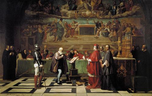 Joseph Nicolas Robert-Fleury Galileo Galilei di fronte all'Inquisizione in Vaticano nel 1632