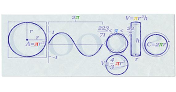 il doodle di Google 2010 dedicato al PI Day