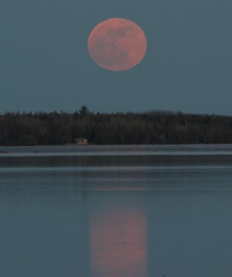 la super Luna in Canada