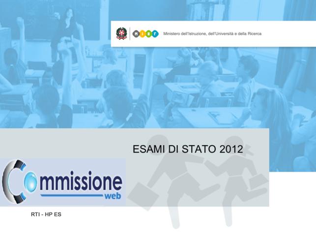 logo Commissione Web 2012 e accesso all'applicazione