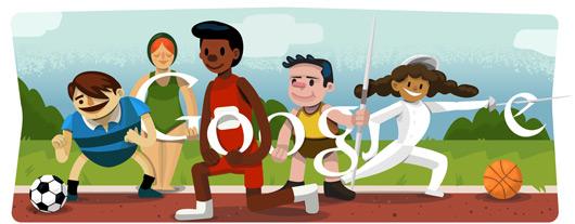 doodle di Google per le Olimpiadi di Londra 2012