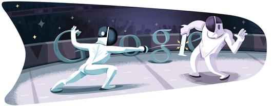 doodle di Google - Olimpiadi 2012 - Scherma