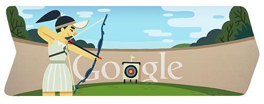 doodle di Google - Olimpiadi 2012 - Tiro con l'Arco