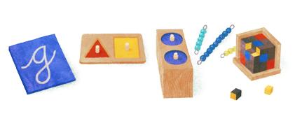doodle di Google - Maria Montessori