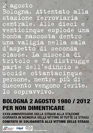 Bologna 2 agosto 1980 - 2 agosto 2012