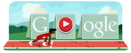 doodle di Google - Olimpiadi 2012 - Corsa a Ostacoli
