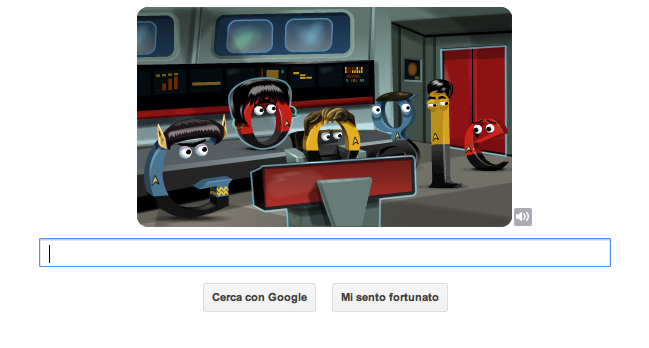 doodle di Google - Star Trek