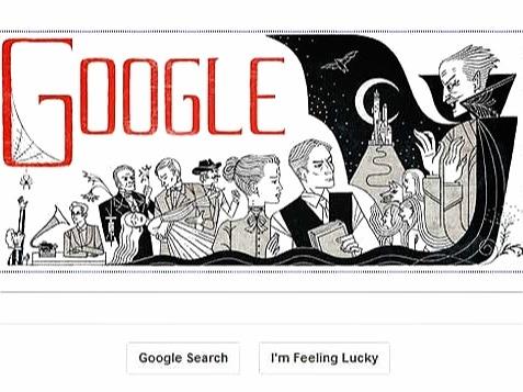 doodle Google per Bram Stoker