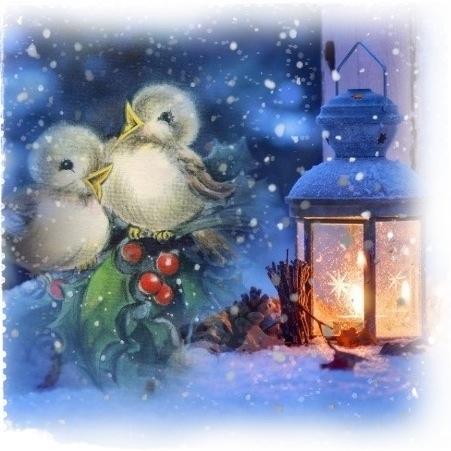 disegno con uccellini e lanterna