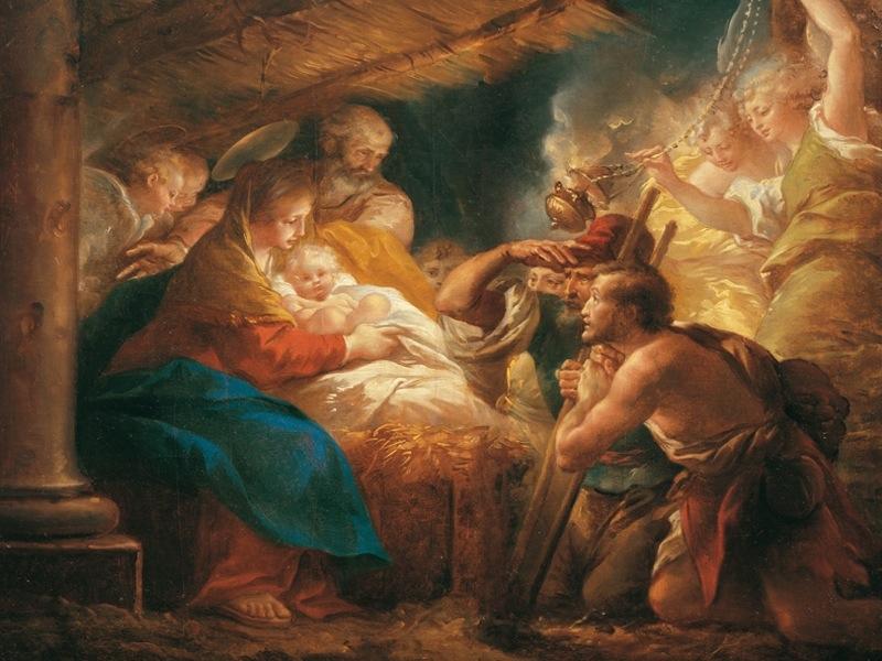 L'Adorazione dei pastori di Giuseppe Cades
