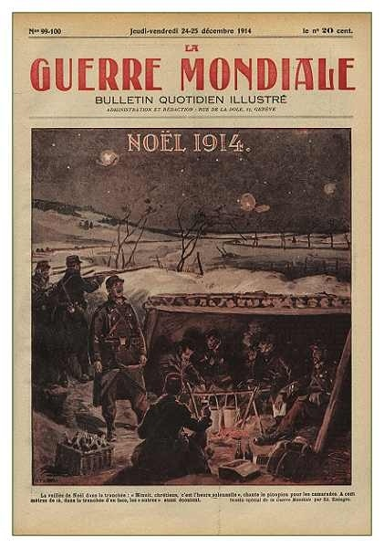 copertina natalizia di una rivista francese del 1914