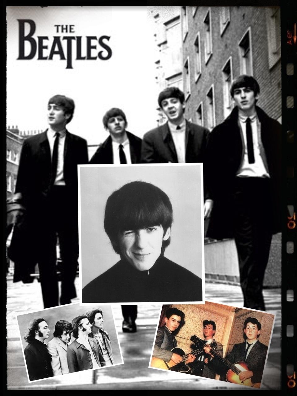 foto George Harrison e The Beatles