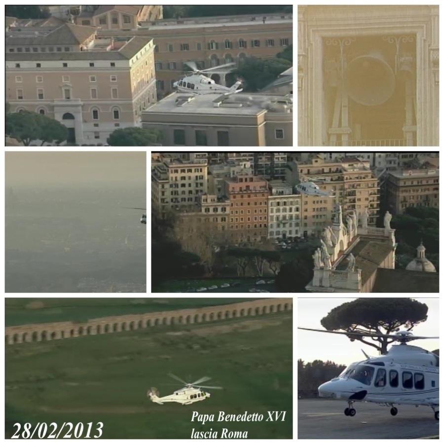 Papa Benedetto XVI lascia Roma
