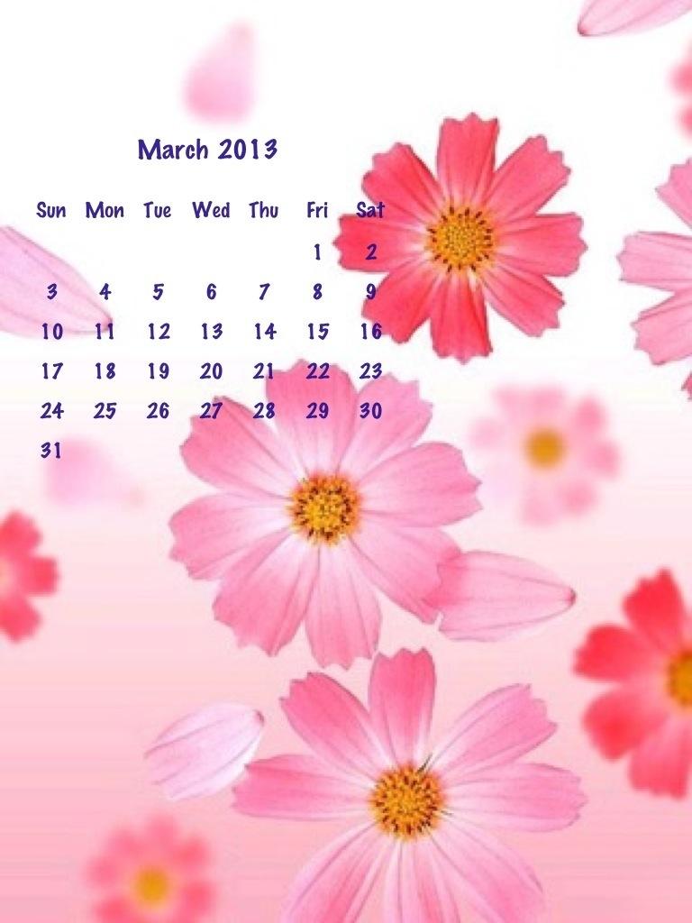 calendario del mese di Marzo
