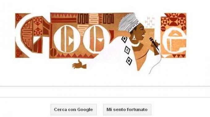 il doodle di Google per Miriam Makeba
