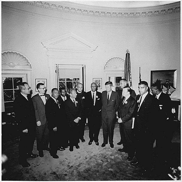 Martin Luther King e i leader della Marcia