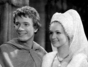 Aldo Reggiani e Loretta Goggi nello sceneggiato televisivo La Freccia Nera