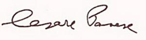 firma di Cesare Pavese
