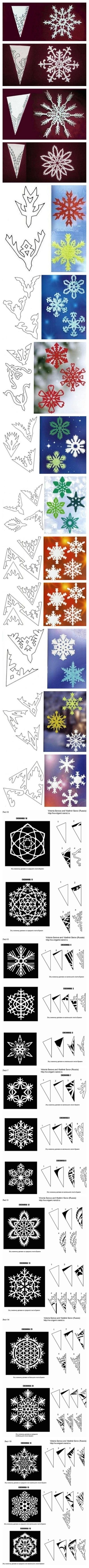 cristalli di neve con la carta
