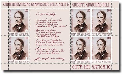 francobollo per Giuseppe Gioachino Belli