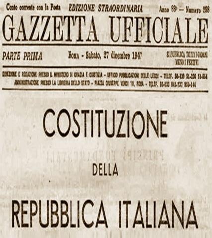 La costituzione italiana n vigando for Repubblica italiana nascita
