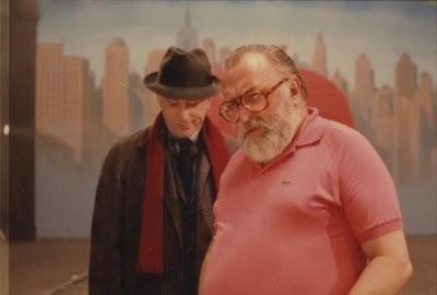 Sergio Leone e Robert De Niro sul set del film C'era una volta in America