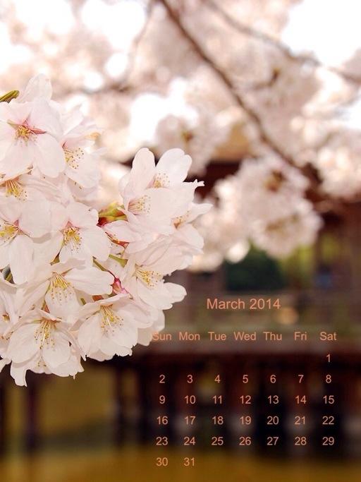 calendario di Marzo