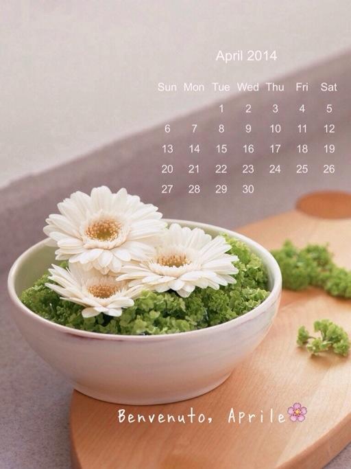 calendario di Aprile