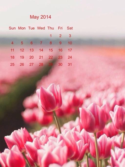 calendario di Maggio