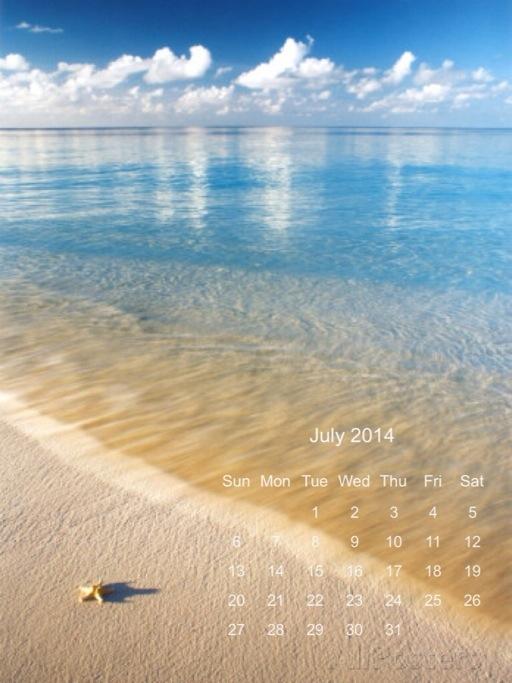 calendario di Luglio