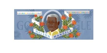 il doodle per Nelson Mandela