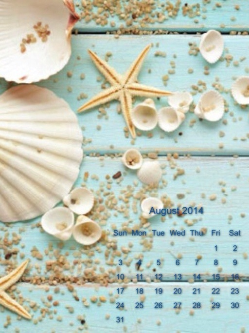 calendario di Agosto
