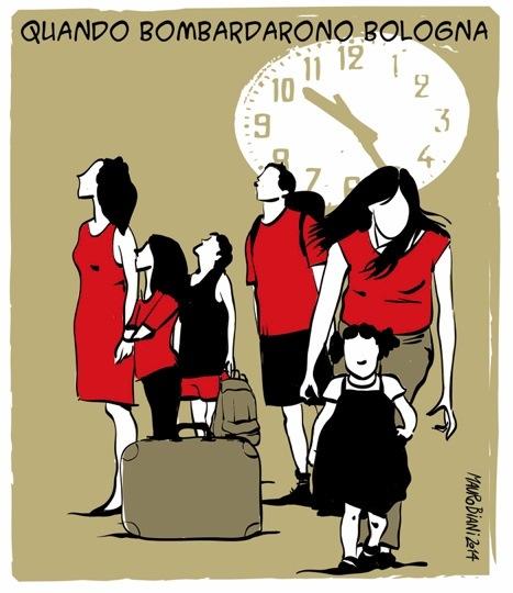 vignetta di Mauro Biani per ricordare il 2 agosto 1980