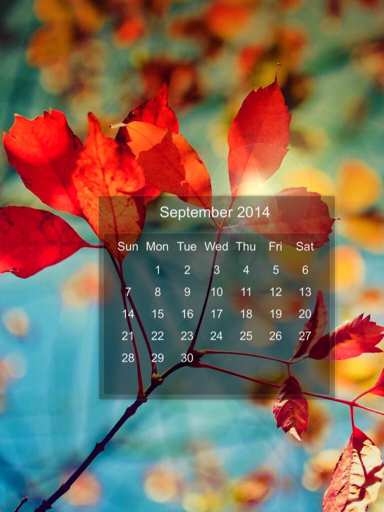 calendario di Settembre