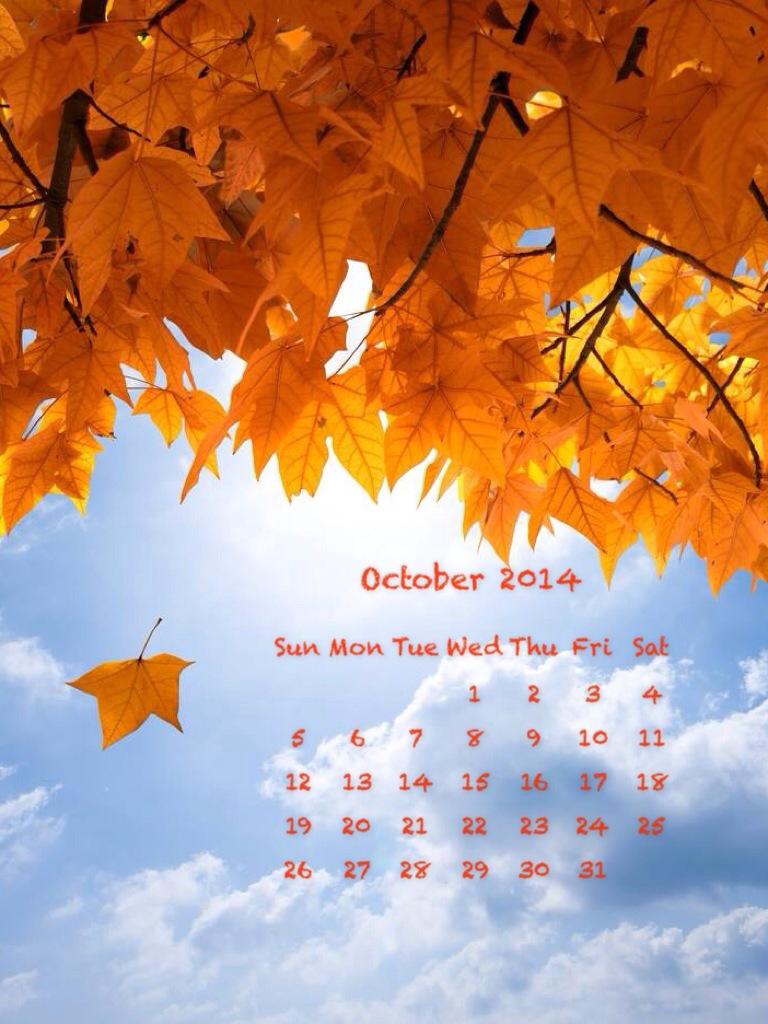 calendario di Ottobre