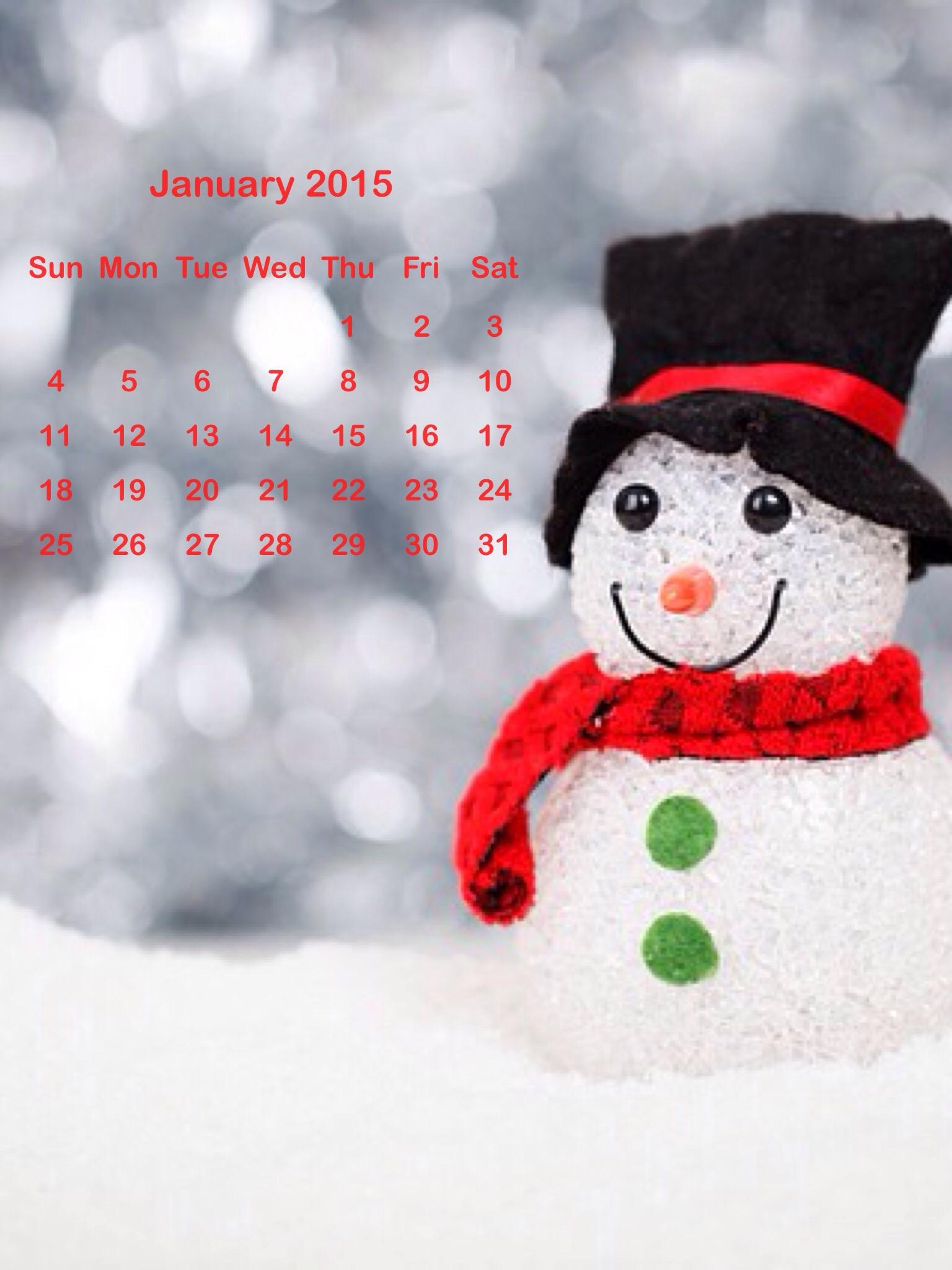 calendario di Gennaio